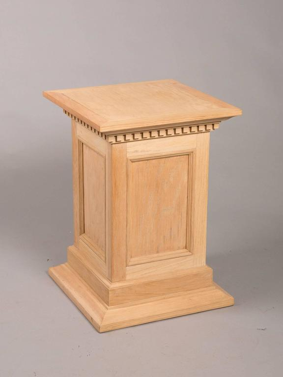 Neoclassical Style Raw Oak Pedestals 2
