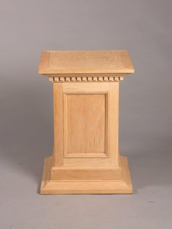 Neoclassical Style Raw Oak Pedestals 3
