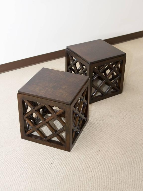 Pair of Mid-Century Accent Tables 7