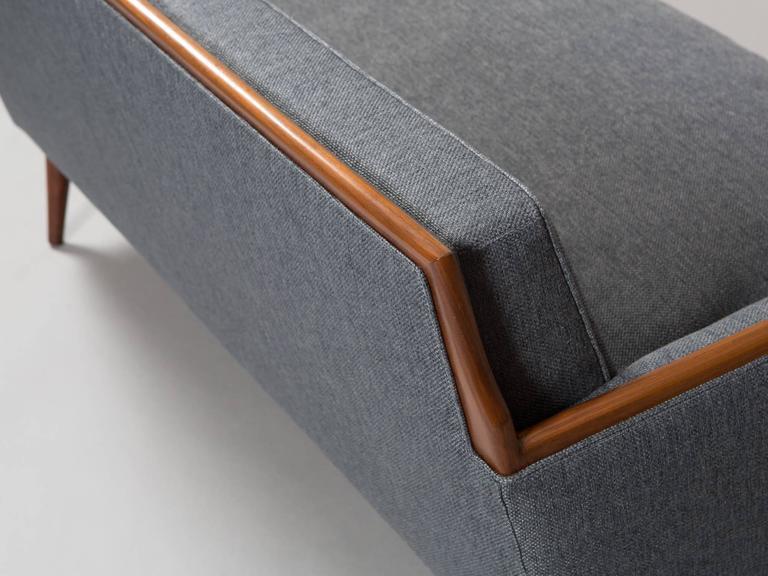 Robsjohn-Gibbings Style Mid-Century Modern Settee For Sale 5