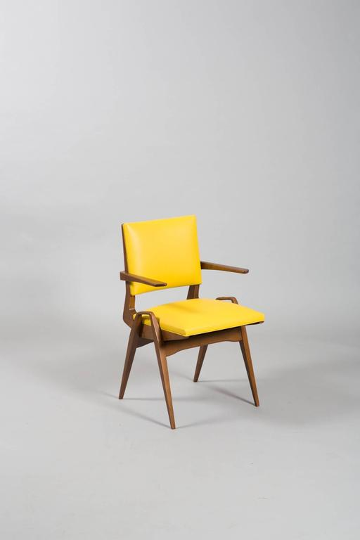 French Mid-Century Armchairs In Excellent Condition For Sale In New York, NY