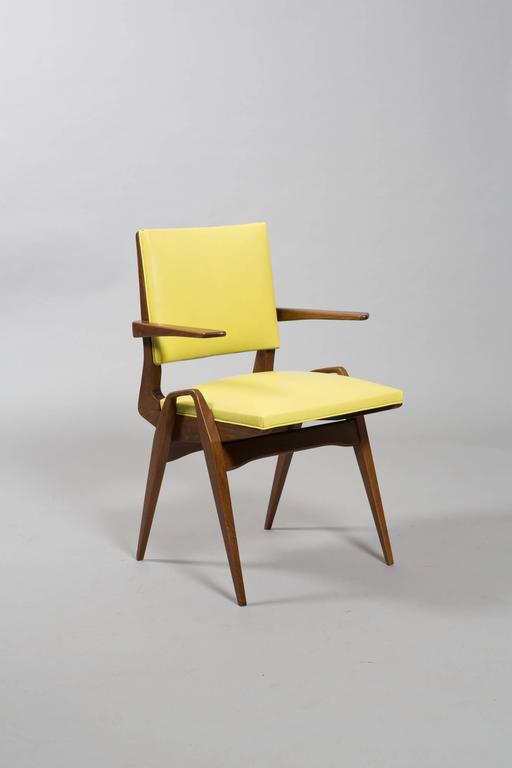 French Mid-Century Armchairs For Sale 1