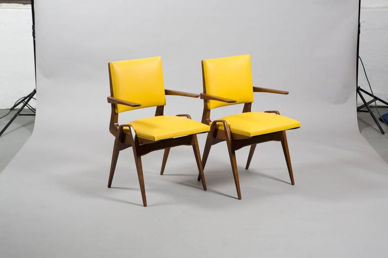 French Mid-Century Armchairs For Sale 2