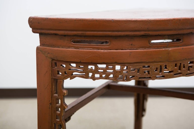 19th Century, Chinese Demilune Console 4