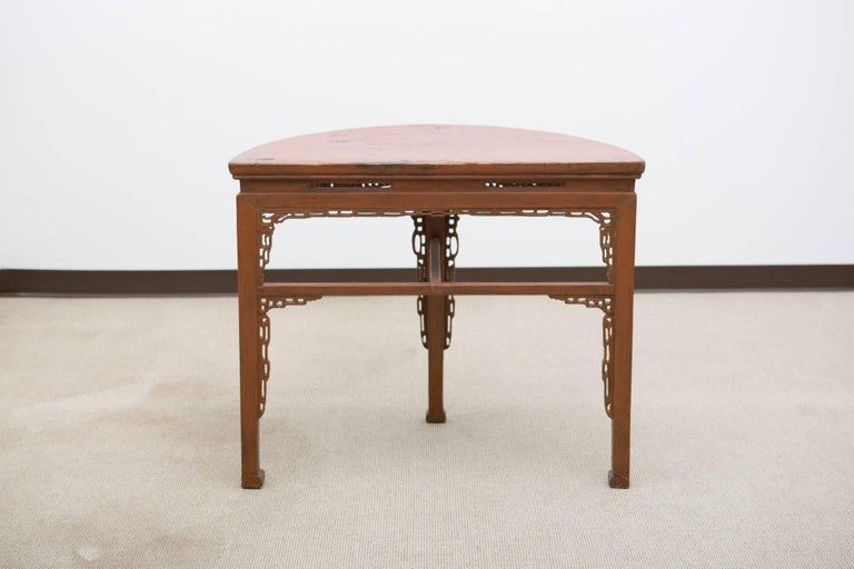 19th Century, Chinese Demilune Console 9