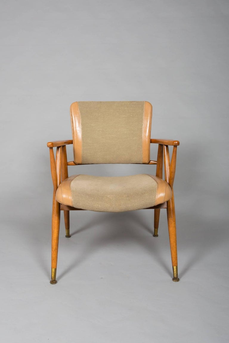 Mid-Century Modern Pair of Midcentury American Armchairs For Sale