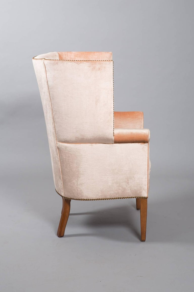 1950s Midcentury Wingback Armchair For Sale 3