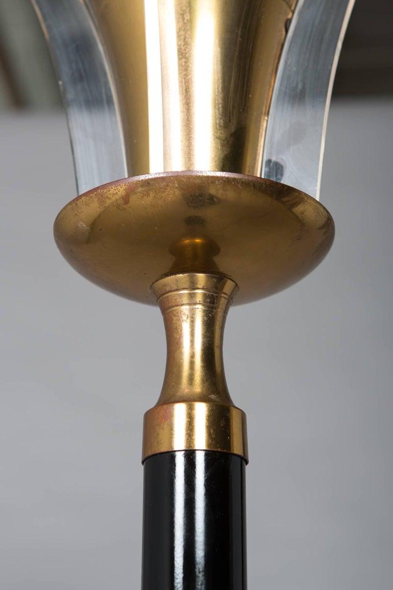 Mid-20th Century 1930s Art Deco Floor Lamp with Acrylic