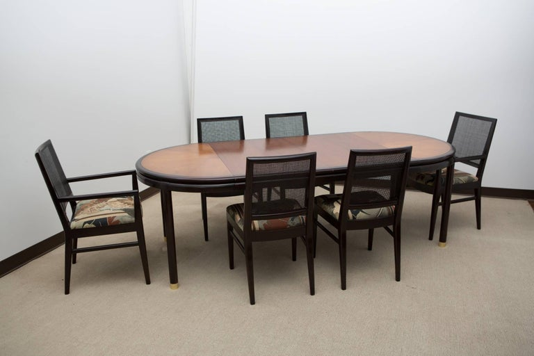 Midcentury Dining Table with Two Leaves For Sale 3