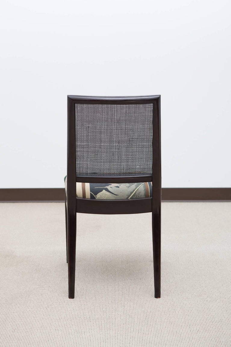 Set of Six Midcentury Dining Chairs with Cane Back 4