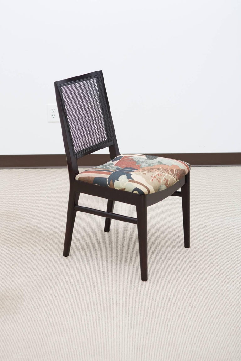 Set of Six Midcentury Dining Chairs with Cane Back 2