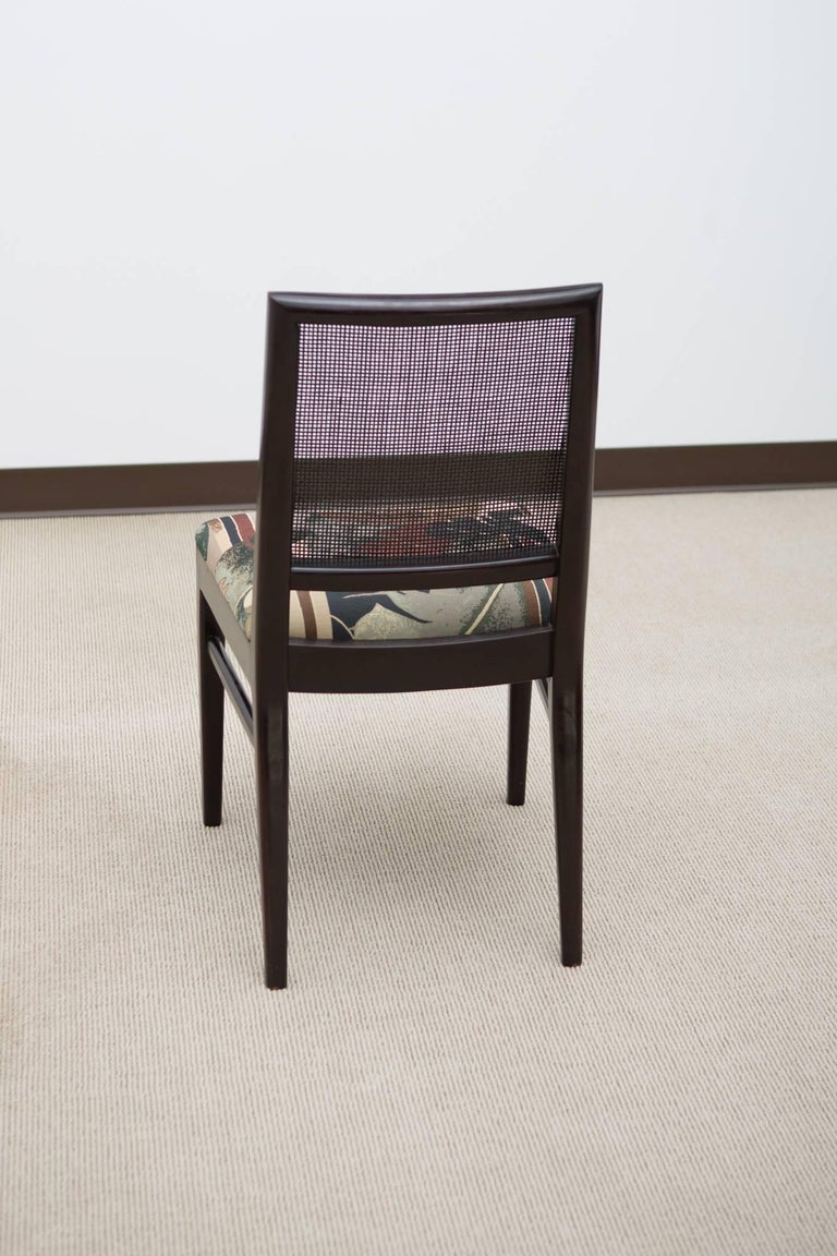 Late 20th Century Set of Six Midcentury Dining Chairs with Cane Back For Sale