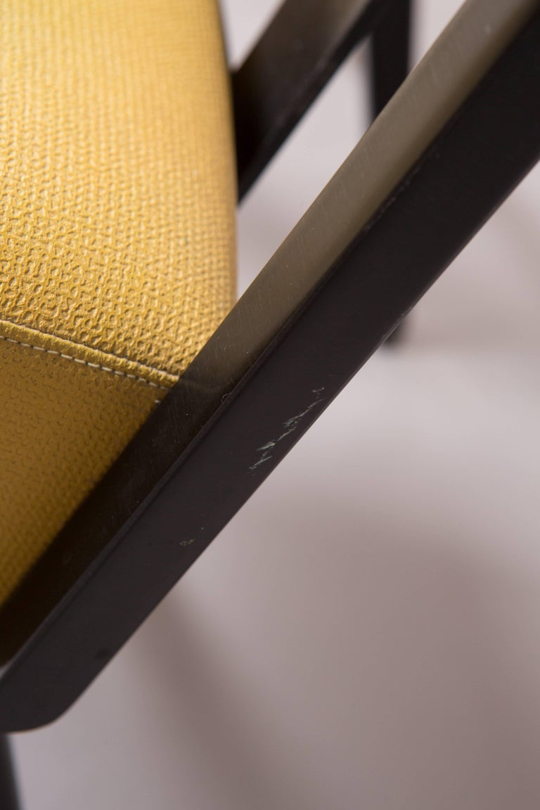 Mid-20th Century Original Yellow and Black Midcentury Armchairs For Sale