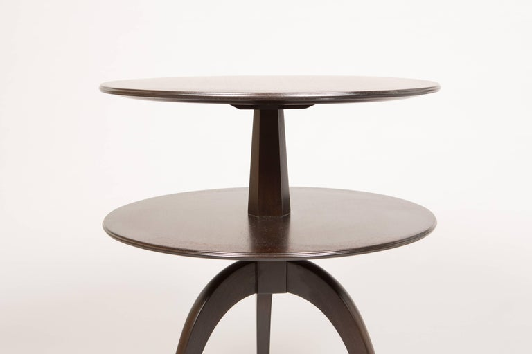 Pair of Espresso Paul Frankl Occasional Tables For Sale 3