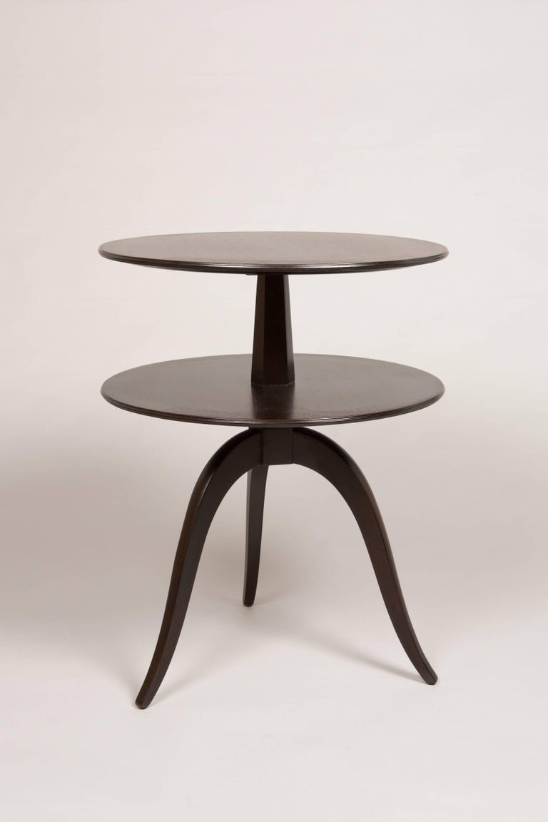 Mid-20th Century Pair of Espresso Paul Frankl Occasional Tables For Sale
