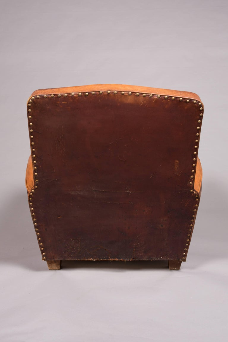 1970s Beautifully Distressed Beat-Up Leather Chair For Sale 4