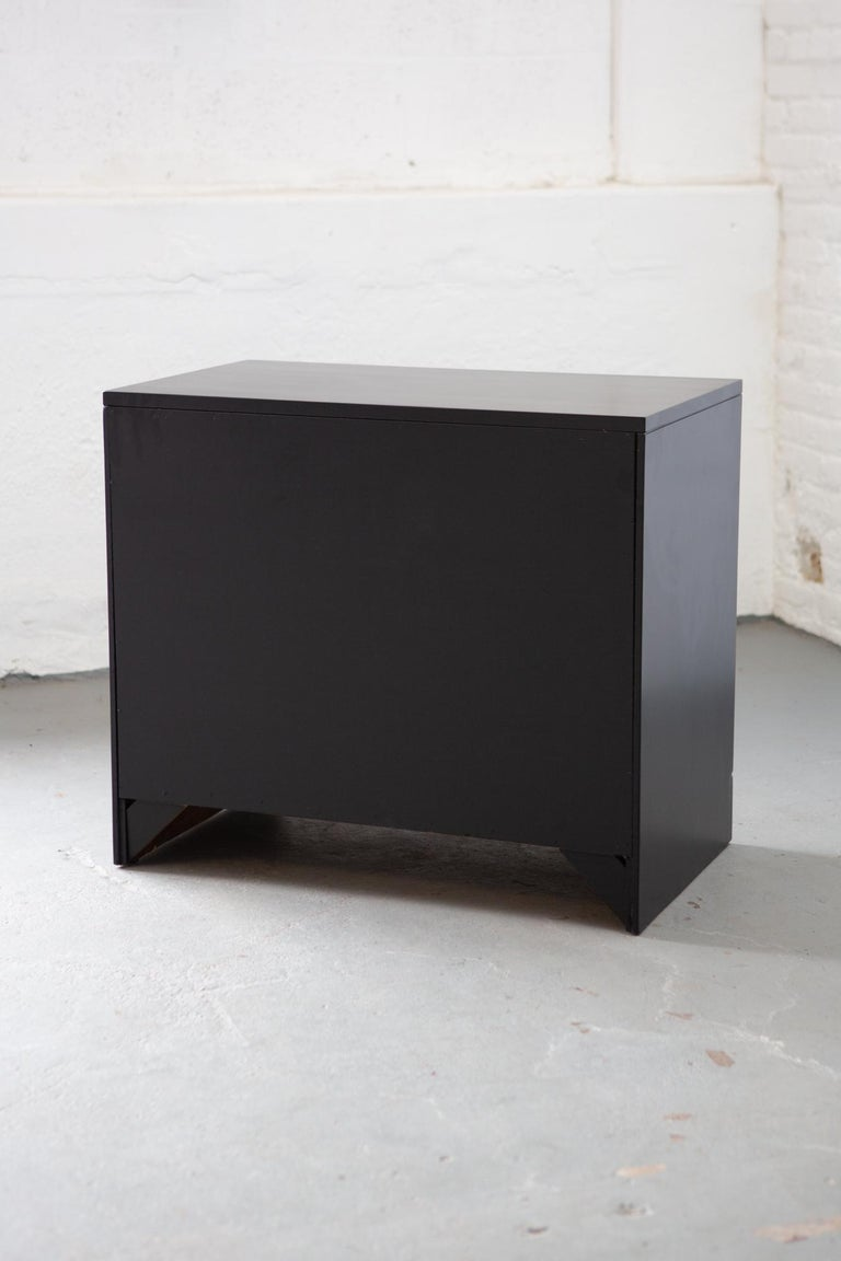 Midcentury Black Lacquered Chest of Drawers For Sale 6