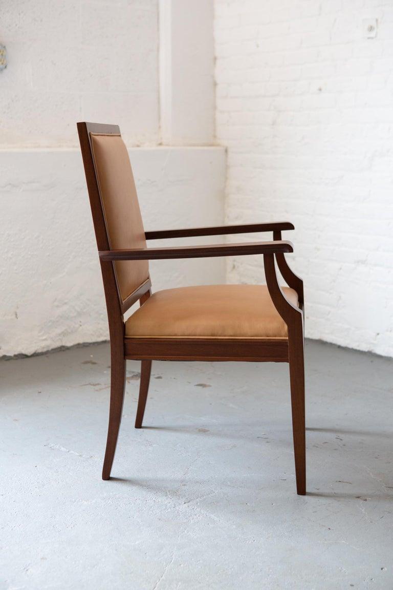 Custom Art Deco Style Mahogany Armchair For Sale 1