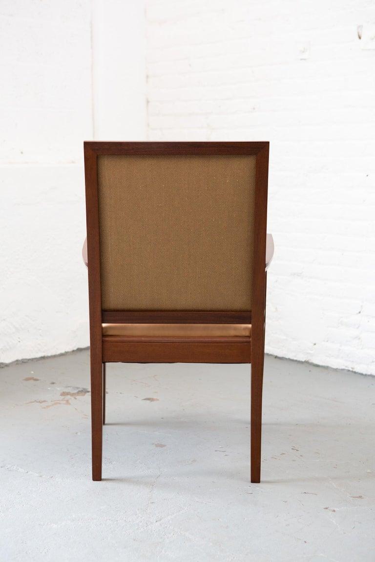 Custom Art Deco Style Mahogany Armchair For Sale 2