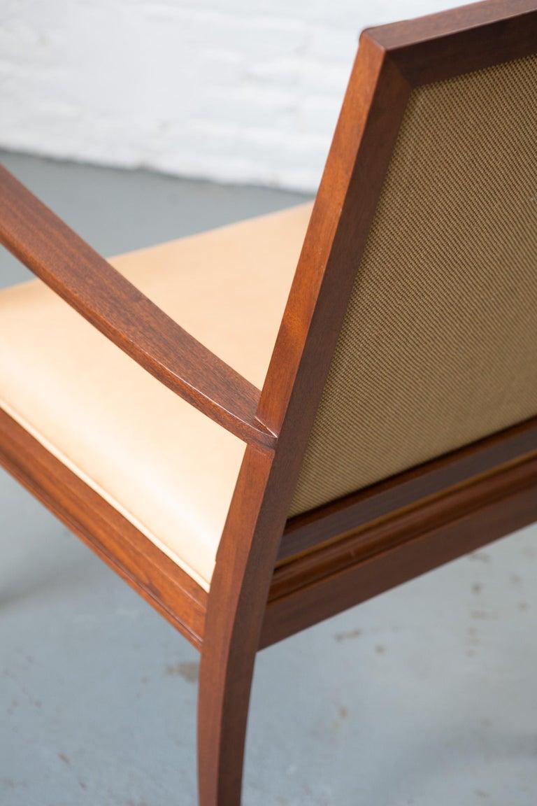 Custom Art Deco Style Mahogany Armchair For Sale 3