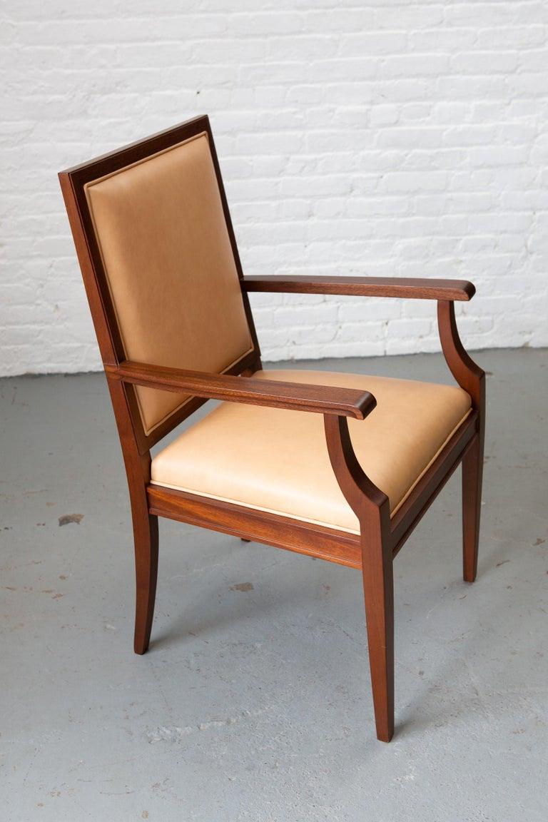 Custom Art Deco Style Mahogany Armchair For Sale 5