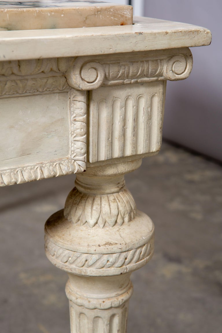 19th Century Neoclassical Style Marble-Top Table For Sale 2