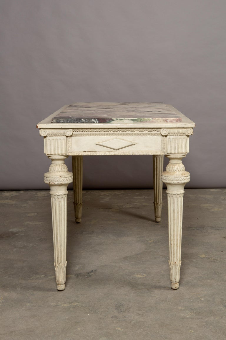 19th Century Neoclassical Style Marble-Top Table For Sale 5