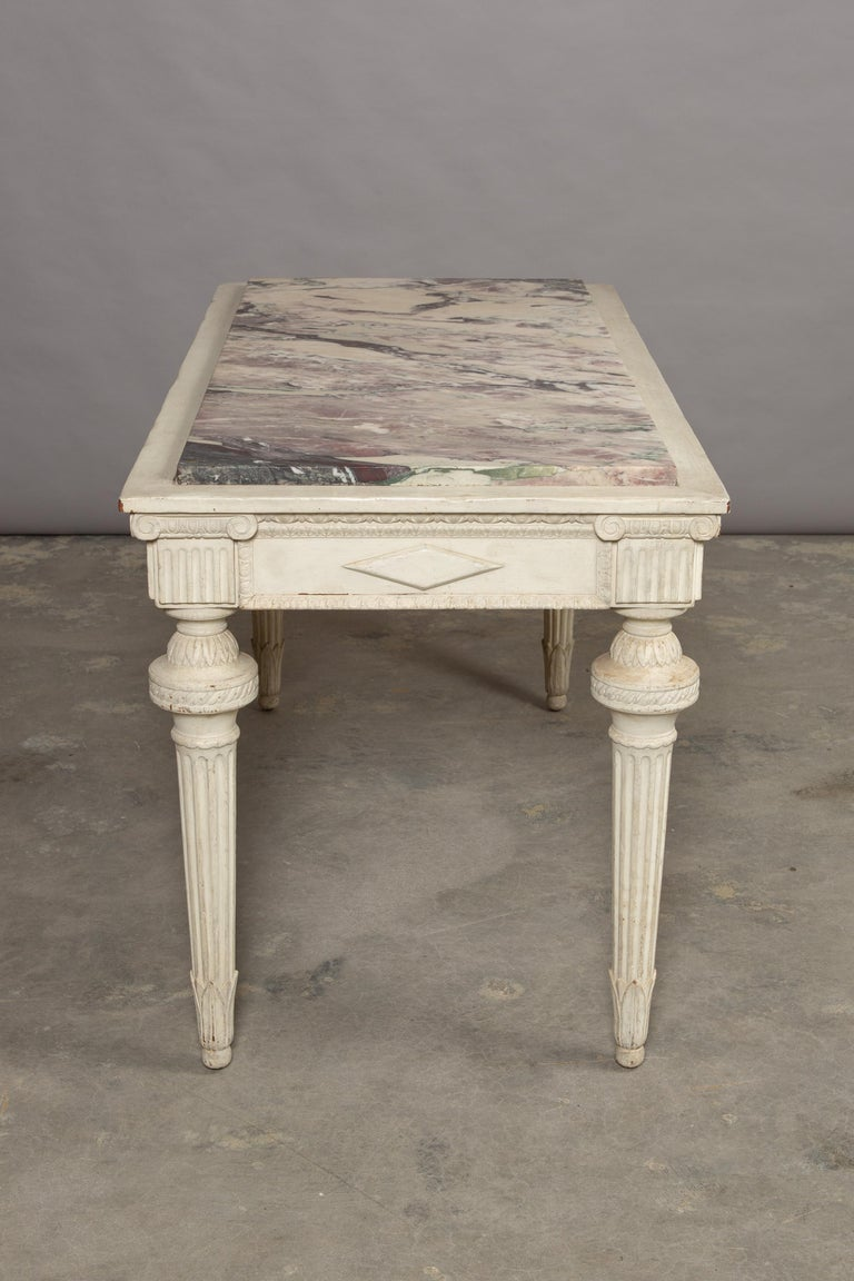 19th Century Neoclassical Style Marble-Top Table For Sale 9