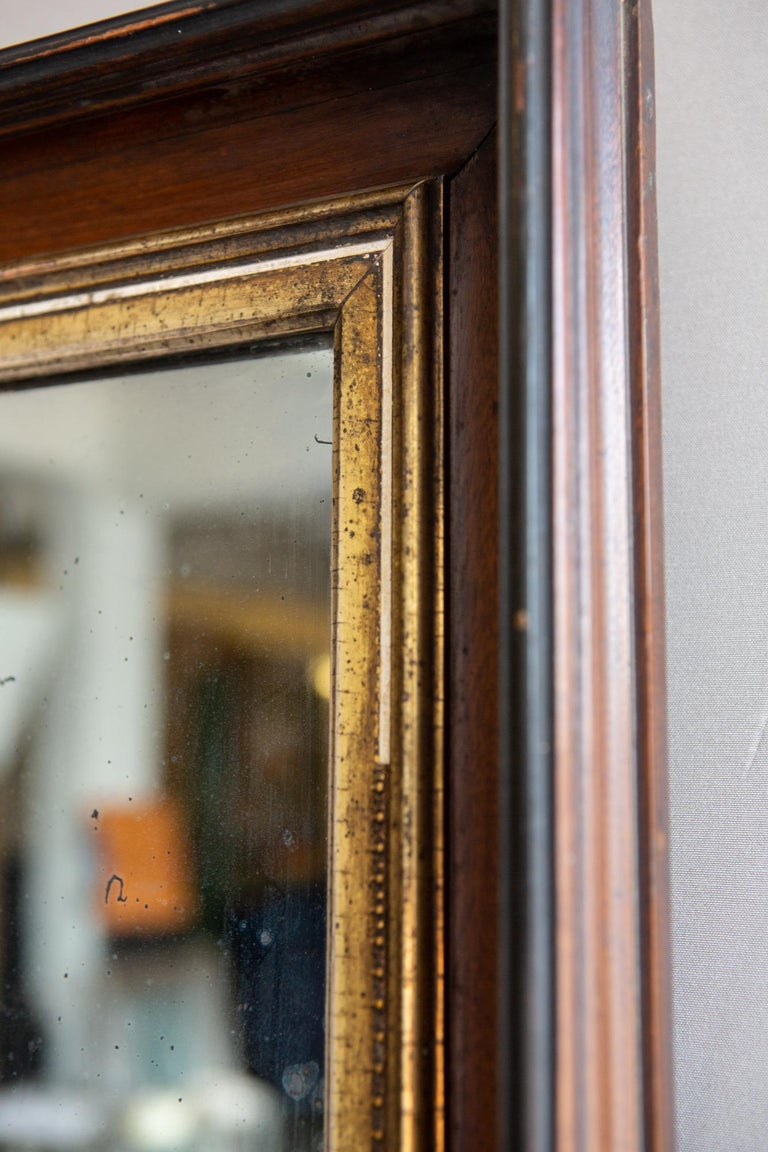 19th Century American Mirror with Antique Glass For Sale 3