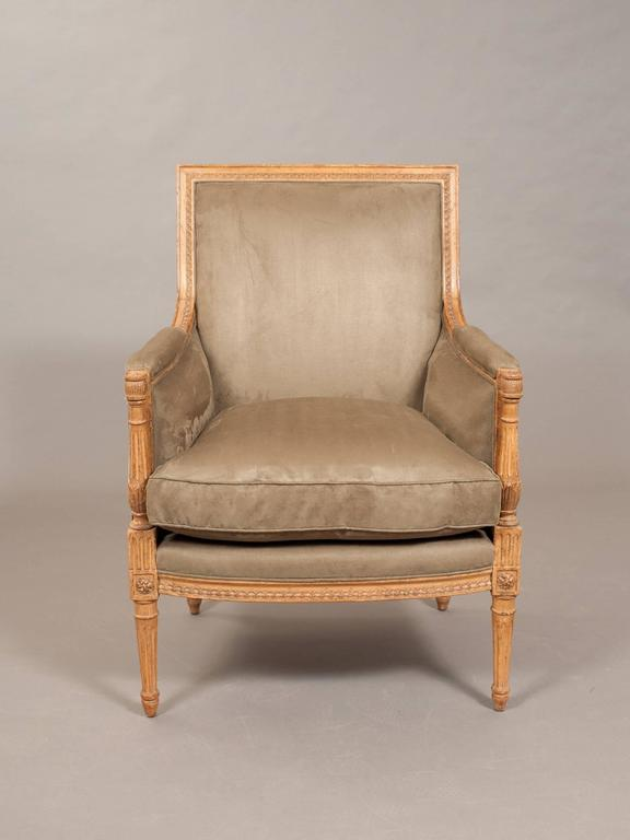 Faux suede directoire style bergere for sale at 1stdibs for Suede couches for sale