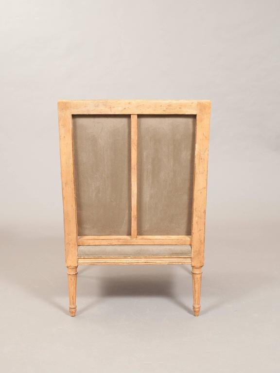 Faux Suede Directoire Style Bergere 4