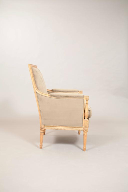 Faux Suede Directoire Style Bergere 3
