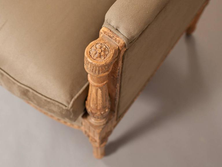 Faux Suede Directoire Style Bergere 5