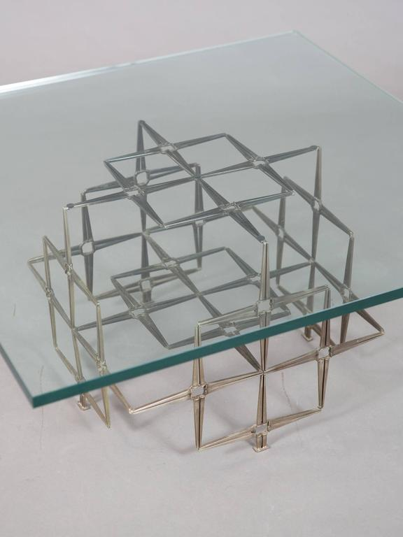 Brutalist Steel Masonry Nail Coffee Table 4