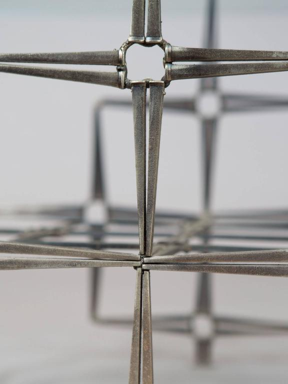 Brutalist Steel Masonry Nail Coffee Table 7