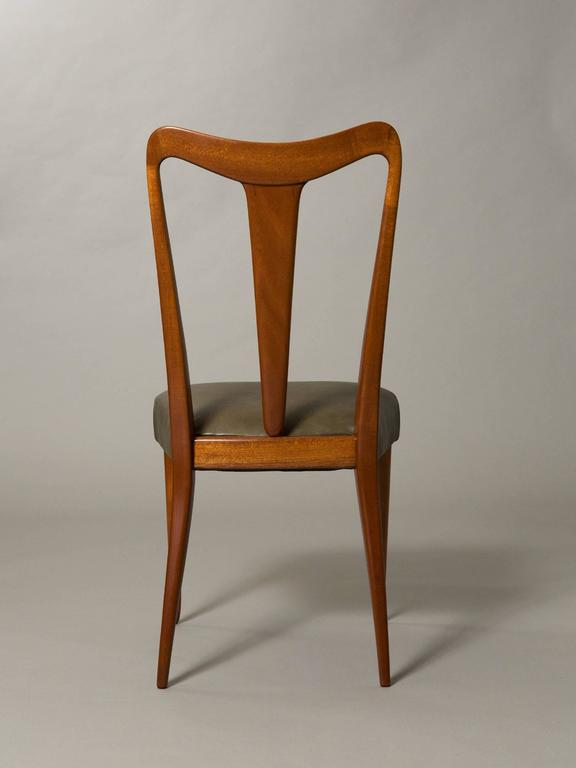 Art Deco Four Elegant Italian Moderne Dining/Side Chairs For Sale