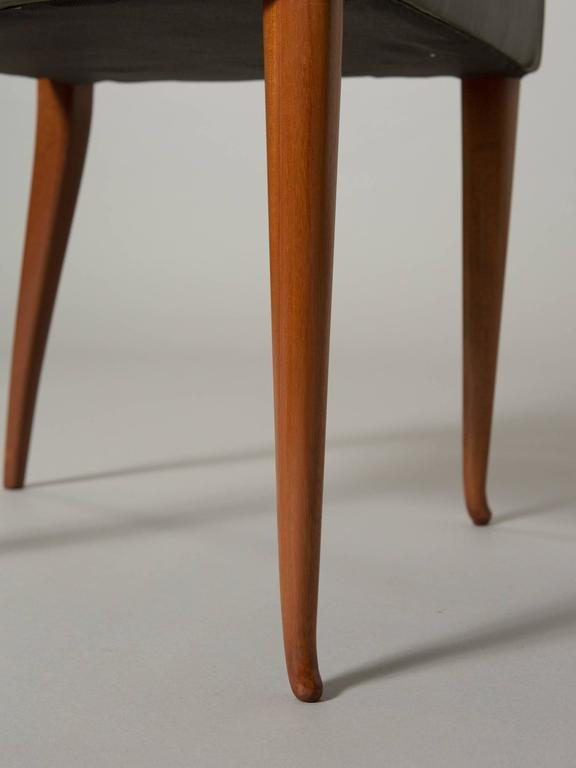 Mid-20th Century Four Elegant Italian Moderne Dining/Side Chairs For Sale