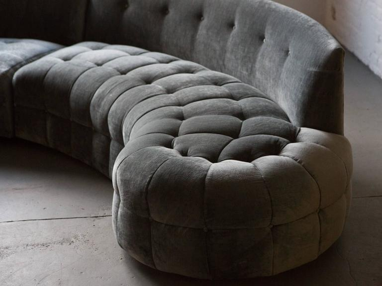 Midcentury Tufted Sectional 2