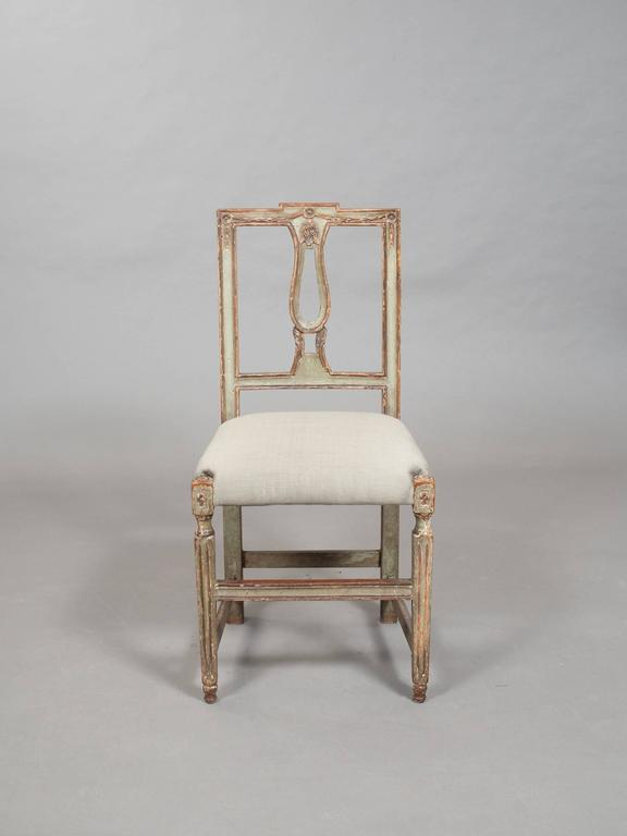 Pair of Neoclassical Italian Side Chairs 4