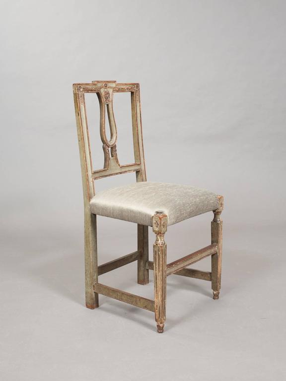 Pair of Neoclassical Italian Side Chairs 2
