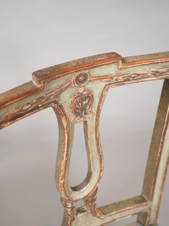 Pair of Neoclassical Italian Side Chairs 6