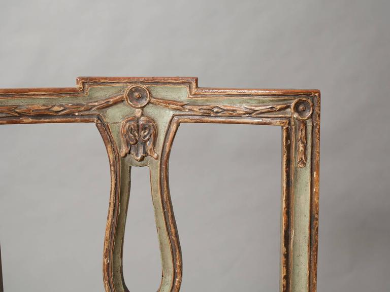 Pair of Neoclassical Italian Side Chairs 10