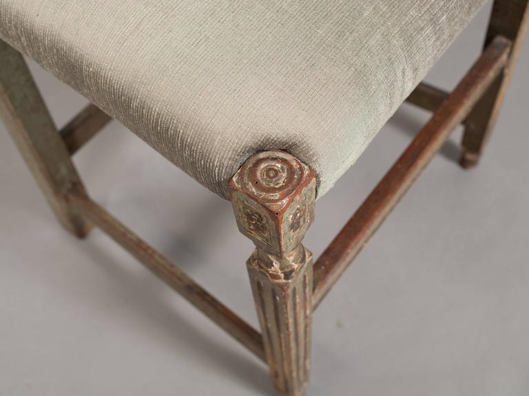 Pair of Neoclassical Italian Side Chairs 9