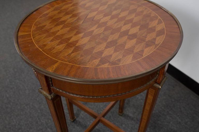 Pair of Round Marquetry Gueridons 6
