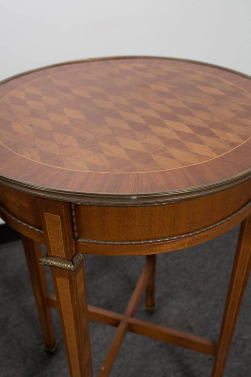 Pair of Round Marquetry Gueridons 5