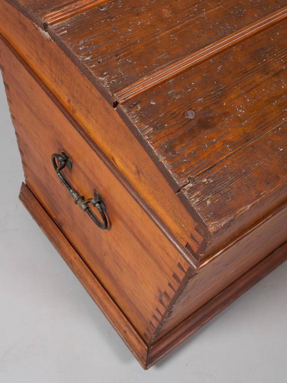 American 19th Century Pine Blanket Chest For Sale