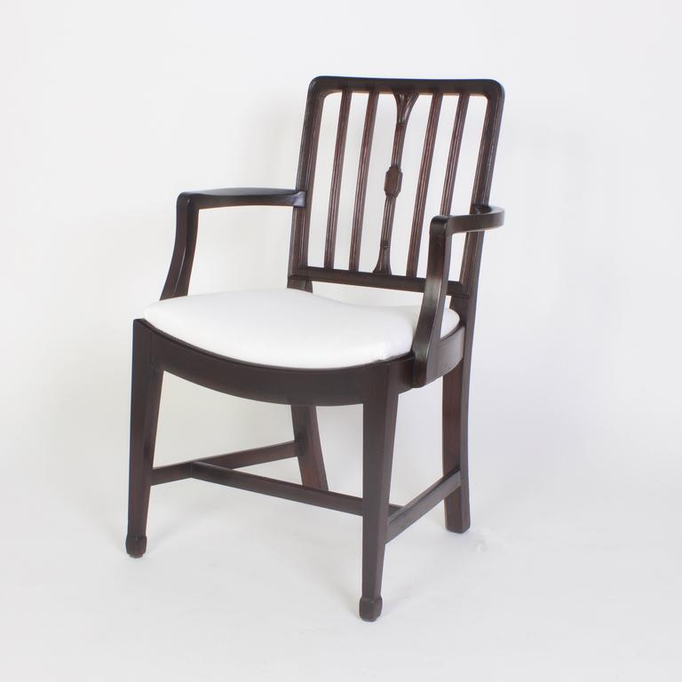 Astonishing Set Of Georgian Style Dining Chairs At 1Stdibs Machost Co Dining Chair Design Ideas Machostcouk