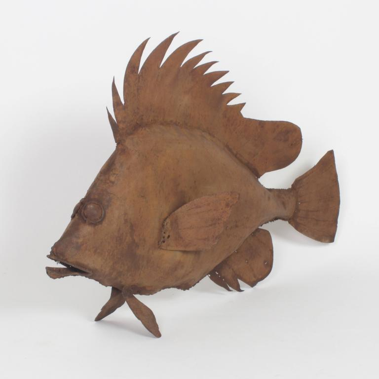 20th Century Metal Fish Sculpture For Sale
