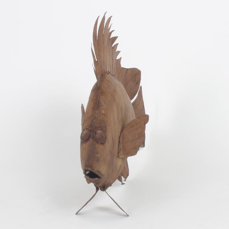 Metal Fish Sculpture For Sale 1