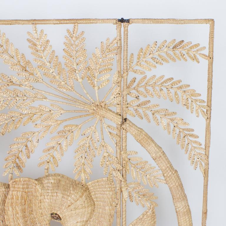 Reed Folky Mario Torres Three-Panel Folding Screen